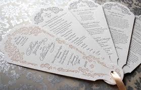 beautiful wedding programs letterpress wedding program fans