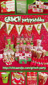 Pinterest Christmas Party Decorations Best 25 Grinch Party Ideas On Pinterest Grinch Grinch