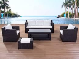 contemporary outdoor sofa set resin wicker patio furniture roma