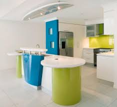 kitchen colorful bright kitchen with white floor and unique