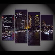 canvas painting 4 piece canvas art sydney australia night hd