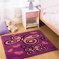 flair butterfly rug in purple next day select day delivery