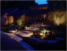 Outdoor Walkway Lights by Backyards Trendy Garden Design With Landscape Lighting Ideas