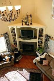 entertainment center ideas next to fireplace built in around