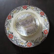vintage bone china teacup and saucer in gray with by miladylinden