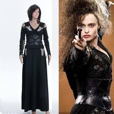 cosplay harry potter costume bellatrix lestrange black dress