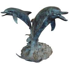 neoclassical style dolphin center or patinated bronze dolphin center table with glass top at 1stdibs