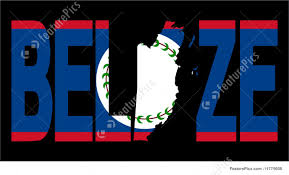 Belize Flag Belize Text With Map Stock Illustration I1775608 At Featurepics