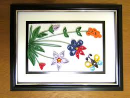 diy paper quilling artwork colorful flower