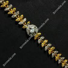 white gold leaf bracelet images Buy boromia leaf design white stone gold plated bracelet for women jpg
