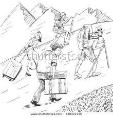hand drawn sketch people on varanasi stock vector 707868934