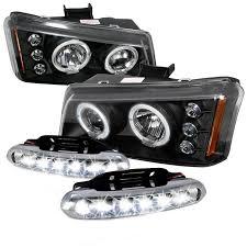 2003 chevy silverado fog lights 03 06 chevy silverado halo black projector headlights day time