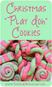 raising memories christmas baking play dough cookies