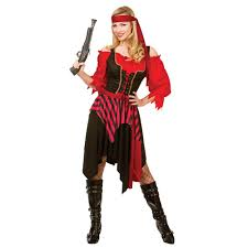 pirate fancy dress costume ladies buccaneer caribbean womens