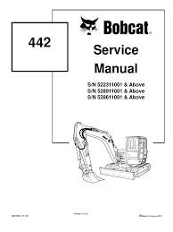 8612958 bobcat 442 mini excavator service repair manual download