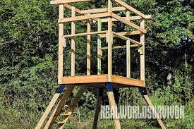 How To Build Hunting Blind Build Your Own Buck Tower And Hunt With A Friend