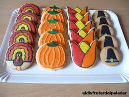 el disfrutar paladar galletas decoradas de thanksgiving y comida