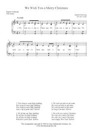 we wish you a merry sheetmusic2print