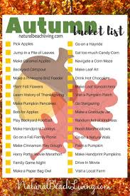 free printable list for fall 32 fall ideas for