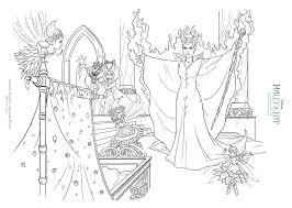 free maleficent aurora coloring sheets hispana global