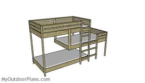 Woodworking Plans Bunk Beds by Triple Bunk Bed Plans Myoutdoorplans Free Woodworking Plans