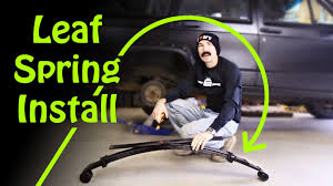 jeep xj leaf springs how to install leaf springs pack part 2 installing the
