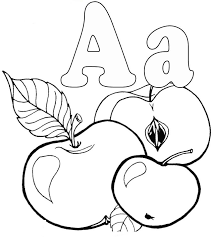 apple coloring pages kids free apple alphabet coloring pages