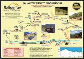 Machu Picchu Map Map Salkantay Trek Map
