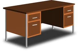 Brown Office Desk An Office Desk Clip At Clker Vector Clip
