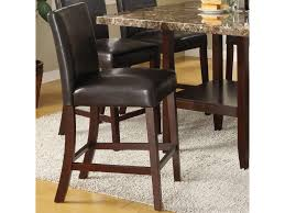 counter dining chairs acme furniture idris 7 piece counter height dining set with square