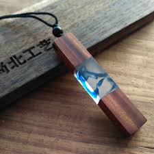 wood pendants necklace images New 2017 handmade resin wood pendant necklace wooden jewelry for JPG