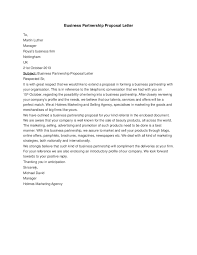 business partnership proposal letter gallery letter examples ideas