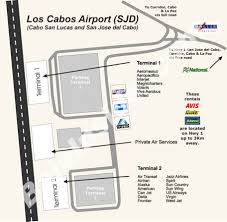 Alaska Airlines Map by Map Of Sjd U2013 Terminal Detail Bajainsider Com