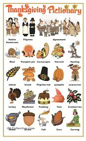 free thanksgiving activities for kindergarten thanksgiving pictionary ingles pinterest thanksgiving