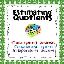division estimating quotients by wild about words tpt