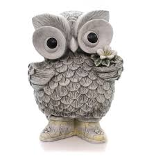 home garden owl in statue outdoor decor sbkgifts