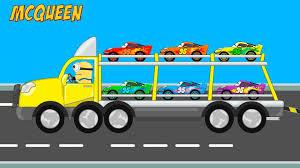 lightning mcqueen transportation learn colors for children cars