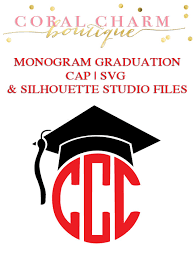 monogram graduation cap monogram graduation cap file for cutting machines svg and