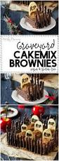 Halloween Chocolate Cake Recipe Graveyard Cakemix Brownies Gluten Free And Vegan Recipe Nerdy