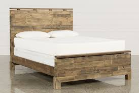 Platform Bed With Nightstands Attached Atticus California King Platform Bed Living Spaces