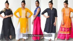 kurti pattern for fat ladies how to style palazzo with kurtis indian ethnic wear perkymegs