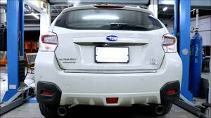 crosstrek subaru white subaru xv custom exhaust catalytic back pw prideracing youtube