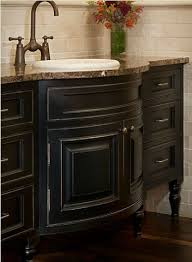 Black Distressed Bathroom Vanity Bathroom Vanity Ideas With Black Painted Cabinetry Traditional