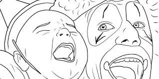 scary clown face coloring pages coloring pages ideas