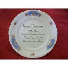 40 ans de mariage assiette décor noces en porcelaine centre vaisselle porcelaine
