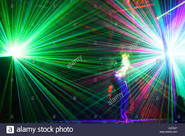 with mirrors and lazer lights stock photo royalty free