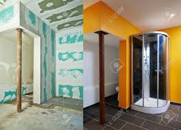 Bathroom Before And After by Construction Of Drywall Plasterboard Bathroom Before And After