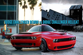 Dodge Challenger Hellcat - 2018 dodge challenger demon vs hellcat differences side by side