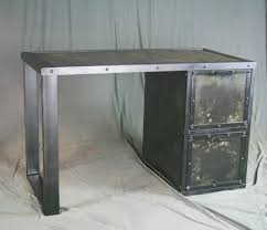 Reclaimed Wood File Cabinet Buy A Custom Made Vintage Industrial Desk With File Cabinet
