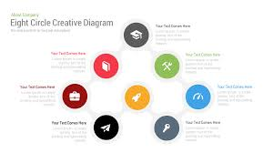 keynote themes compatible with powerpoint eight circle diagram free powerpoint keynote template